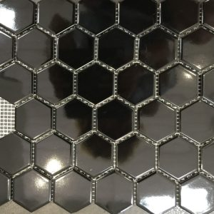 Medium Hexagon Gloss Mosaics | Feature Tiles | Melbourne | Essendon | Sunbury | Luscombe Tiles