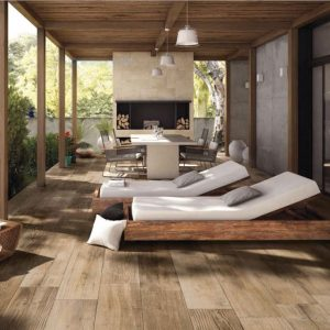 Exterior / Floor Tiles Melbourne | Cross Wood Range | Dust | Luscombe Tiles