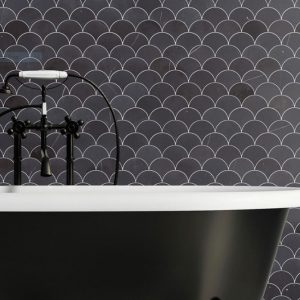 Montage Navona Black by Southern Cross Ceramics | Feature Tiles Melbourne | Luscombe Tiles
