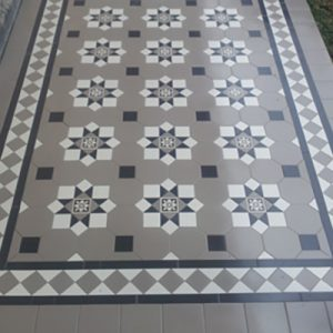 ALBURY PATTERN | LATTE | Tessellated Tiles | Period Tiles | Melbourne | Essendon | Sunbury | Luscombe Tiles