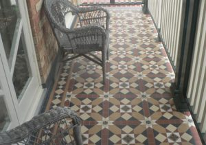 FITZROY PATTERN | Tessellated Tiles | Period Tiles | Melbourne | Essendon | Sunbury | Luscombe Tiles