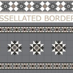 NEWTOWN PANEL | GRAND NORWOOD BORDER | Tessellated Tiles | Period Tiles | Melbourne | Essendon | Sunbury | Luscombe Tiles