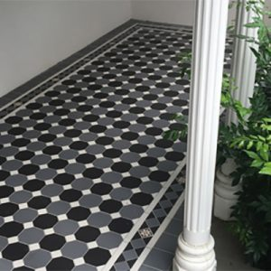 OXLEY PATTERN | CHECKER | Tessellated Tiles | Period Tiles | Melbourne | Essendon | Sunbury | Luscombe Tiles