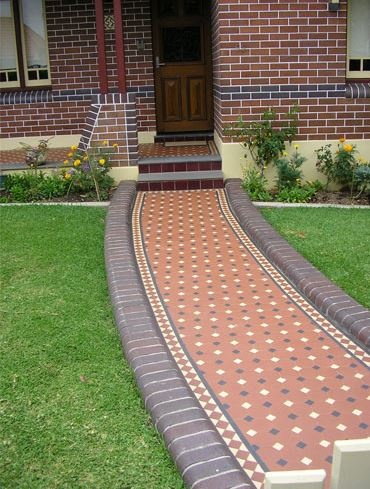 OXLEY PATTERN with Norwood Border | Tessellated Tiles | Period Tiles | Melbourne | Essendon | Sunbury | Luscombe Tiles
