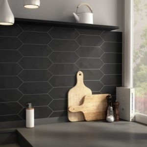 Kite | Matt Black | Wall Tiles | Melbourne | Essendon | Sunbury | Luscombe Tiles