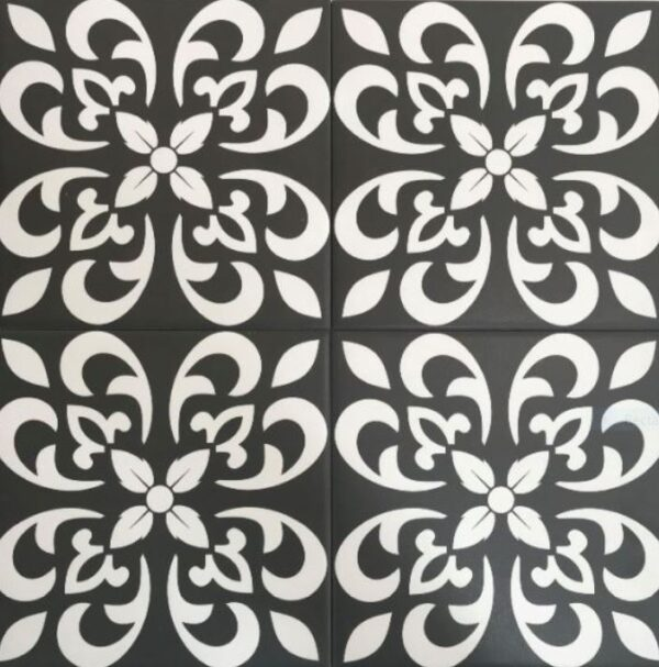 ARABIC BLACK & WHITE | Floor Tiles | Melbourne | Essendon | Sunbury | Luscombe Tiles