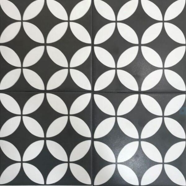 CIRCLES - GREAT DANE BLACK & WHITE 01 | Floor Tiles | Melbourne | Essendon | Sunbury | Luscombe Tiles