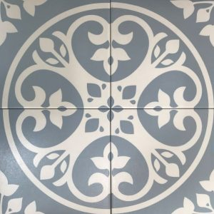 FLORAL LIGHT BLUE | Floor Tiles | Melbourne | Essendon | Sunbury | Luscombe Tiles