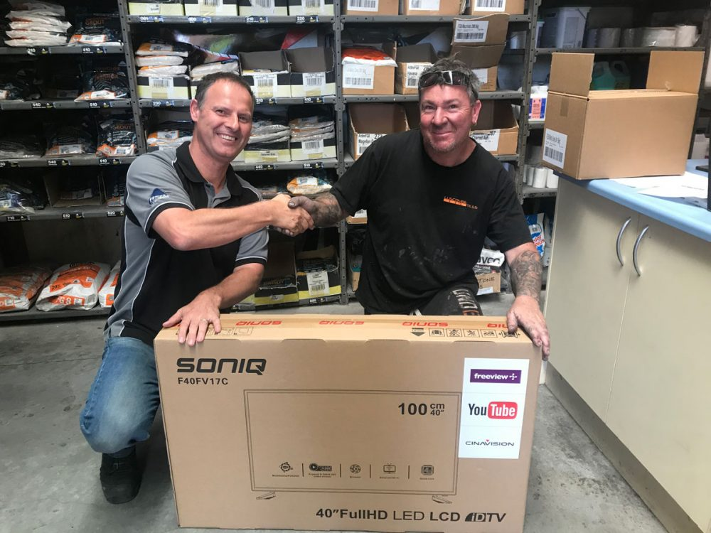Lucky Winners of the Luscombe Tiles & Bostik Competition