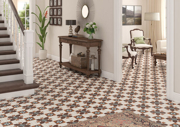 FEDERATION (SPANISH) BLAKENEY PATTERN | Floor Tiles | Melbourne | Essendon | Sunbury | Luscombe Tiles