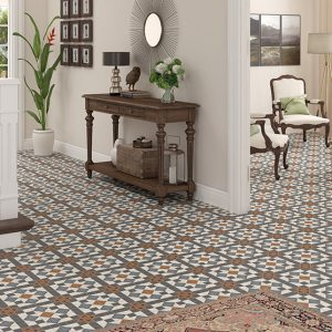 FEDERATION (SPANISH) CANTERBURY PATTERN | Floor Tiles | Sunbury | Essendon | Melbourne | Luscombe Tiles