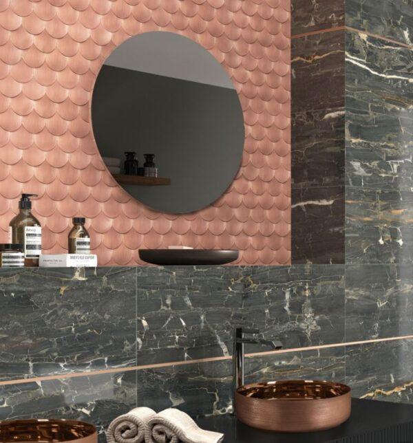SIRENA COPPER FAN MOSIACS | Feature Tiles | Sunbury | Essendon | Melbourne | Luscombe Tiles